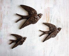 Three Little Birds - Vintage Burwood Plaques