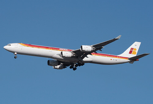 IBERIA AIRBUS A340 (A340-600), EC-IOB at JFK, New York, USA. 2009