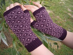 Finished Endpaper Mitts