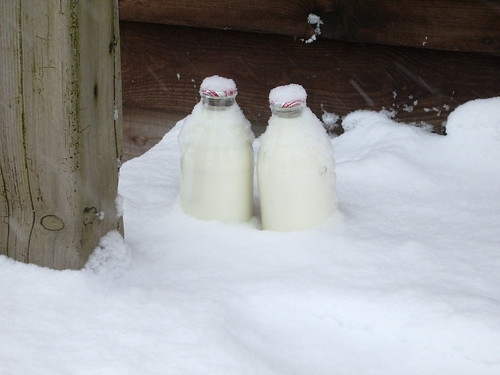 Snowy milk!