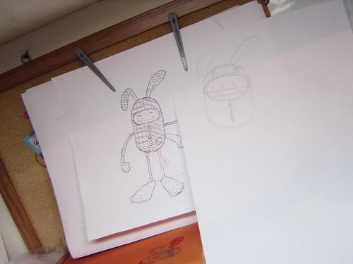 Estudos do Pé-grande fantasia de coelho