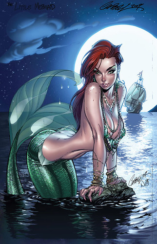 disney.ladies.in.sexy.comic.style.little.mermaid