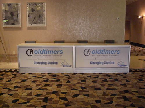 Oldtimers Charging Station at Affiliate Summit