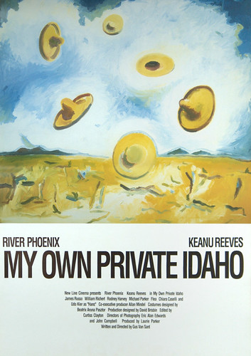 My Own Private Idaho Japanese movie poster Keanu Reeves River Phoenix