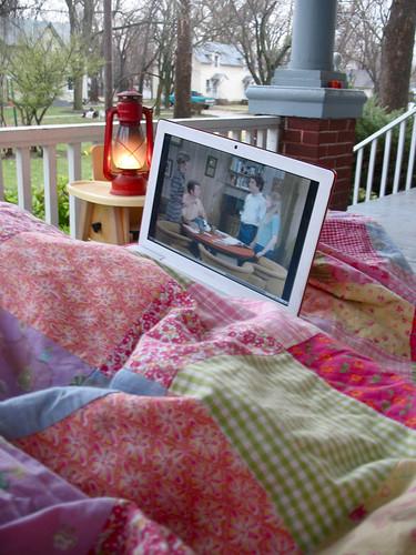 porch movie in the rain