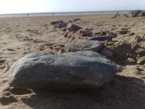 stones at putsborough