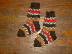 Reese's Pieces Stripe Baby Socks