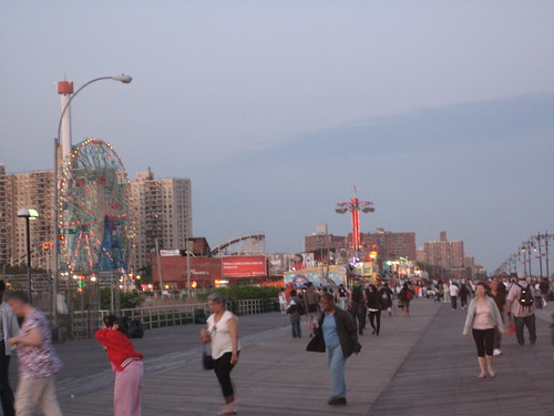 Dusk on the Boardwalk. Photo by Tricia Vita/me-myself-i via flickr