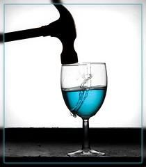 Glass smash with liquid