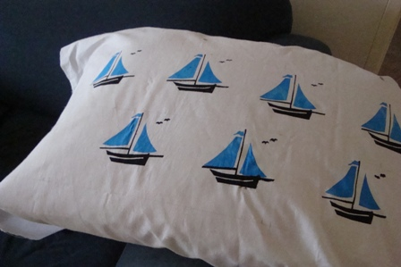 PRINT - Yatch pillow
