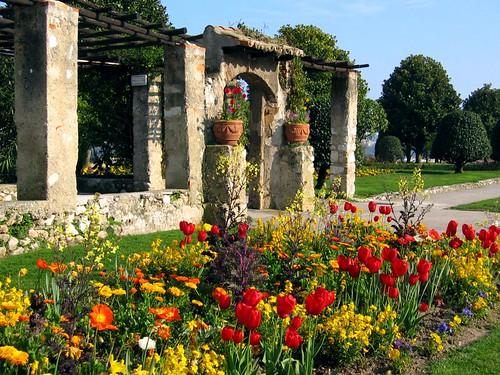 Garden at the Cimiez Monastery.