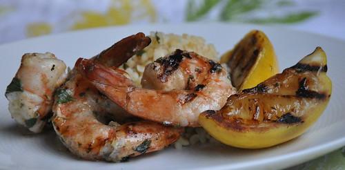 Lemon-Oregano Grilled Jumbo Shrimp