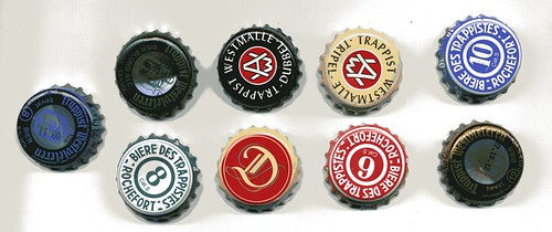 Trappist beer bottle caps