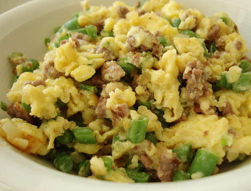 Chinese egg with mince meat