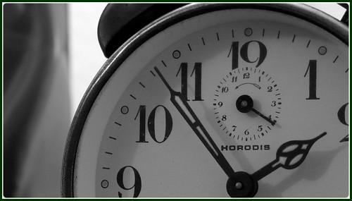 Le temps, essais en N&B