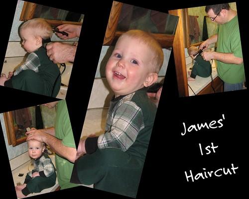 James' 1st Haircut