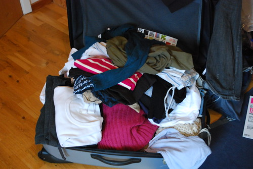 Living out of a suitcase...