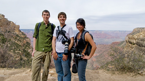 Jeff, Esten and me on the Bright Angel trail at the Grand Canyons south rim.