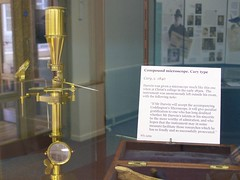 Older compound microscope, Whipple Museum, University of Cambridge