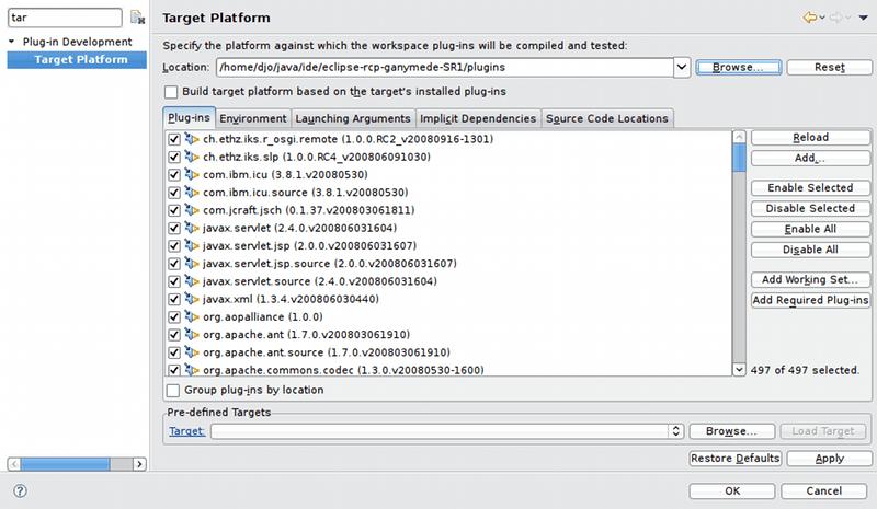 Target Platform Preferences