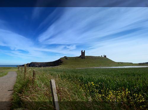 Dunstanburgh castle from Embleton by _pauls