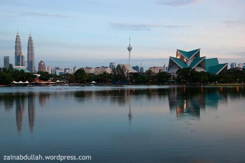 Kuala Lumpur viewed from Titiwangsa Lake Garden