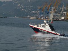 Carabinieri's motorboat