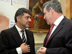 Gordon Brown and James Caan
