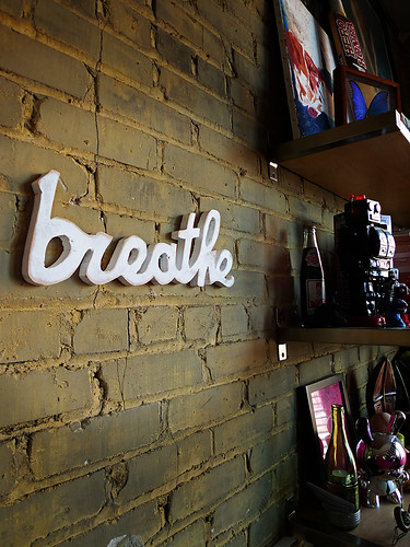 """breathe"" recycled wooden sign"