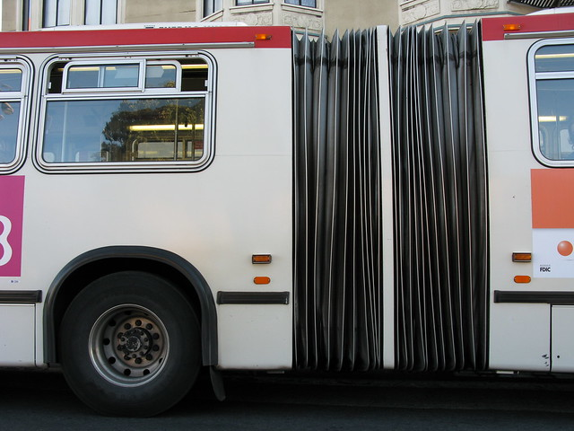 Muni articulating bus