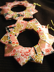 Origami Earrings - Cherry Blossom Dreamer