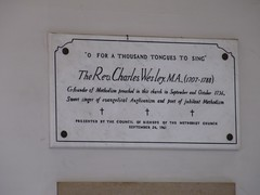 Charles Wesley Preached Here