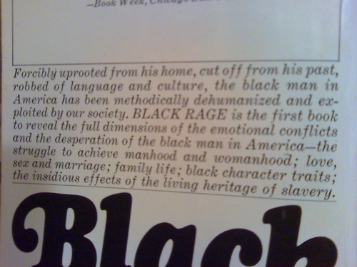 Black Rage, 1968, back cover