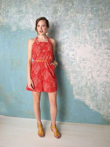Mata Traders - dress_windycityromper_red