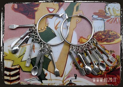 orecchini posate - Spoon fork knife earrings ILPOSAT