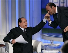 Bruno Vespa e Silvio Berlusconi