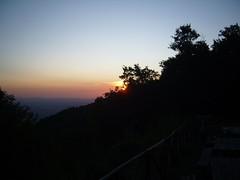 Sonnenuntergang am Monte Subasio