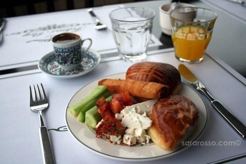 Turkish Breakfast in Istanbul, Turkey