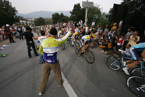Lance Armstrong in the Feed Zone