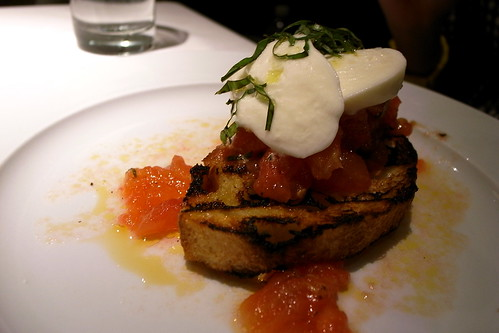 Housemade Mozzarella and Tomato Bruschetta
