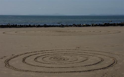 Y Maes spirals, north Wales