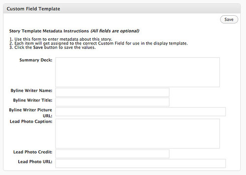 Custom Field Template WordPress plugin screenshot