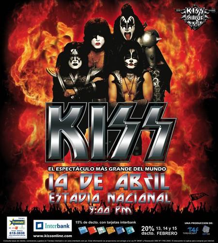 KISS en Peru poster
