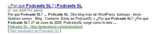 Podcasts SL - Google Reader