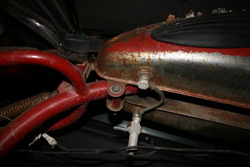Gas tank seen from below
