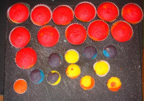 son of rainbow cupcakes!
