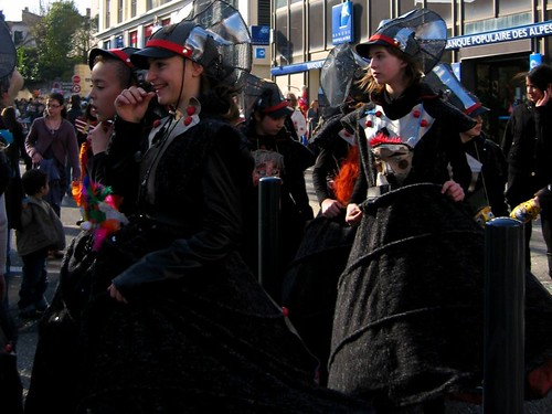 These costumes at the Carnaval de Romans looked like they came from a futuristic Alice in Wonderland.
