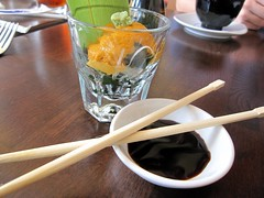 zen on ten - uni sashimi shot style