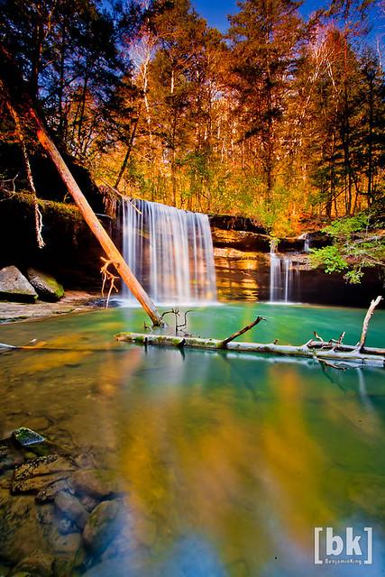 Fall Colors at their peak at South Caney Falls