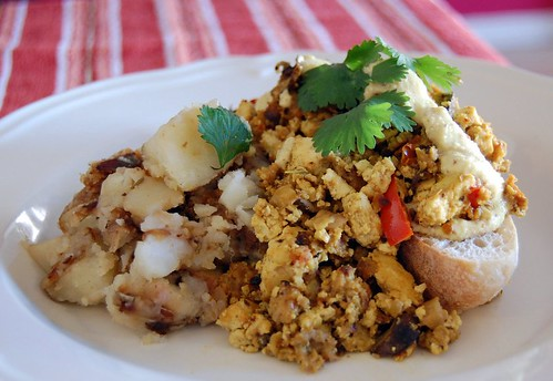 Tofu Scramble with Hollandaise